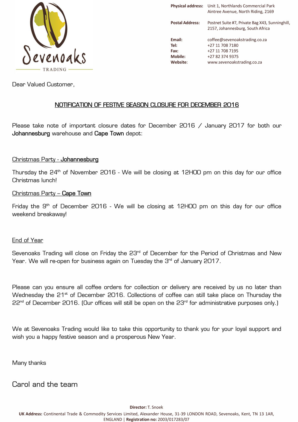 sevenoaks-december-closure-notice-2016